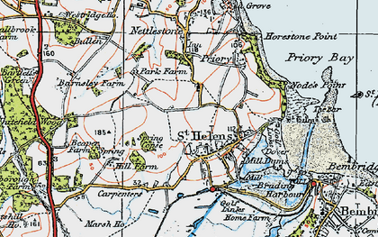 Old map of Whitefield Wood in 1919