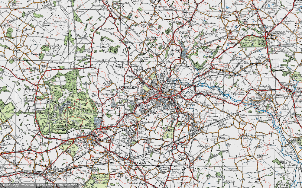 Old Map of St Helens, 1923 in 1923