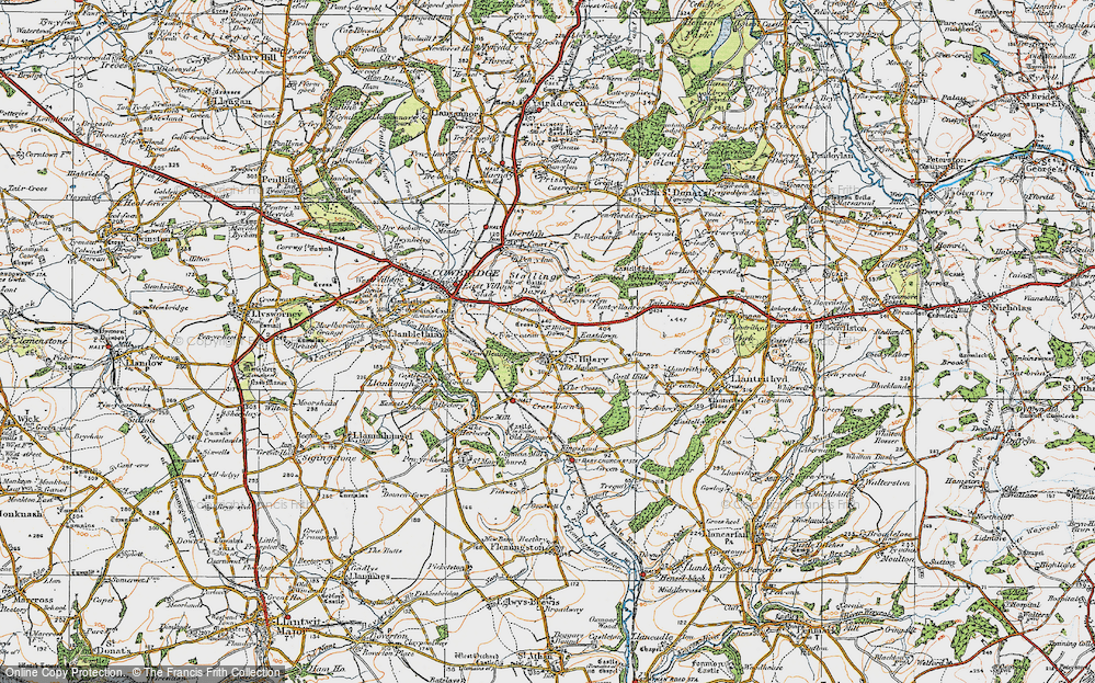 Old Map of St Hilary, 1922 in 1922
