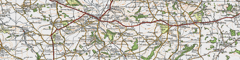 Old map of St Hilary in 1922