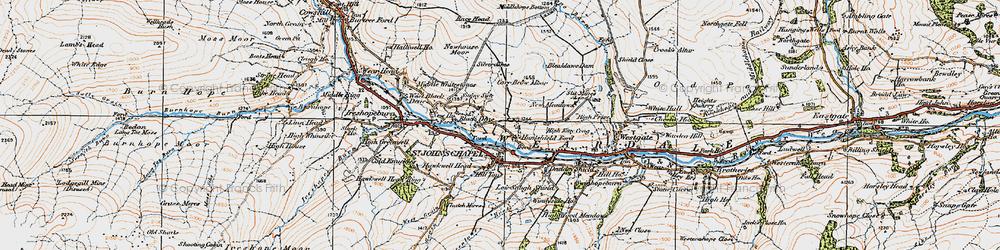 Old map of St John's Chapel in 1925