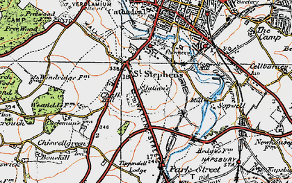Old map of St Julians in 1920