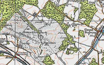 Old map of Langfield Copse in 1919