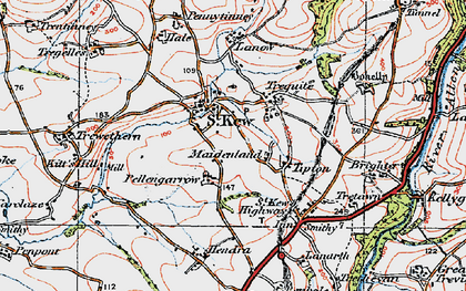 Old map of Tipton in 1919