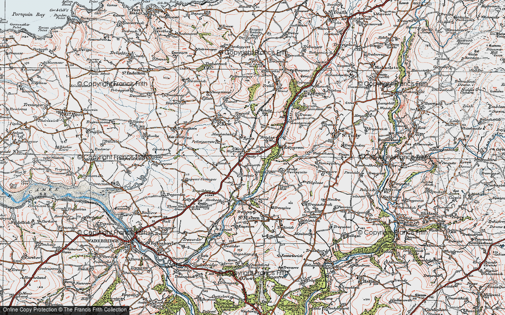 Old Map of Historic Map covering Leeches in 1919