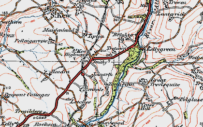 Old map of Leeches in 1919