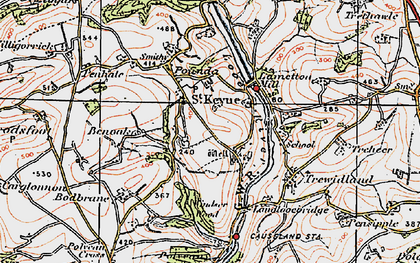 Old map of Windsor Wood in 1919