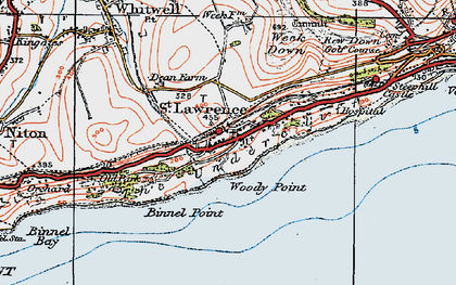 Old map of St Lawrence in 1919