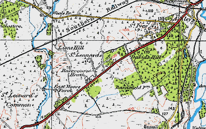 Old map of St Leonards in 1919