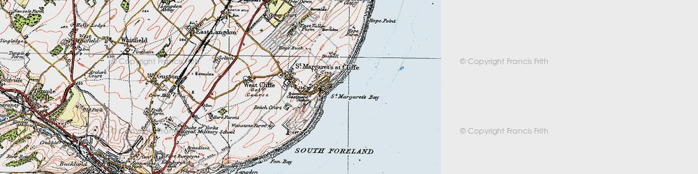 Old map of St Margaret's Bay in 1920