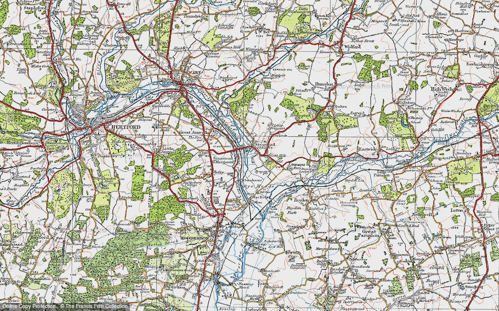 Old Map of St Margarets, 1919 in 1919