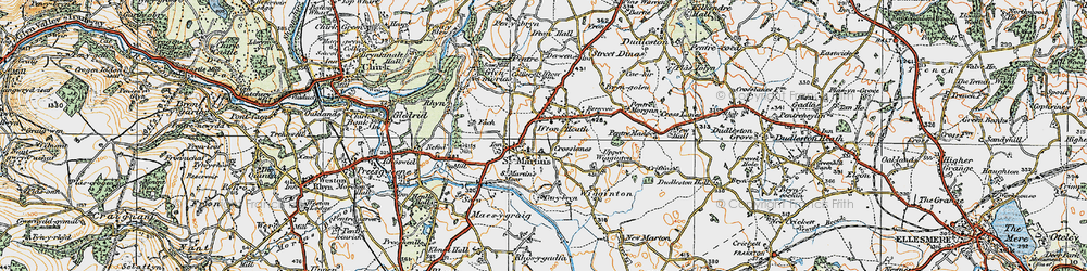 Old map of St Martins in 1921