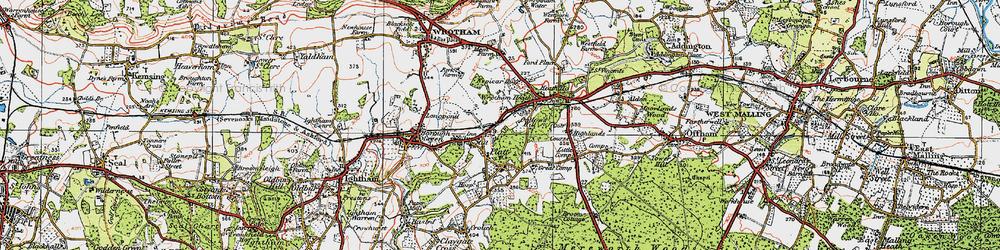 Old map of St Mary's Platt in 1920