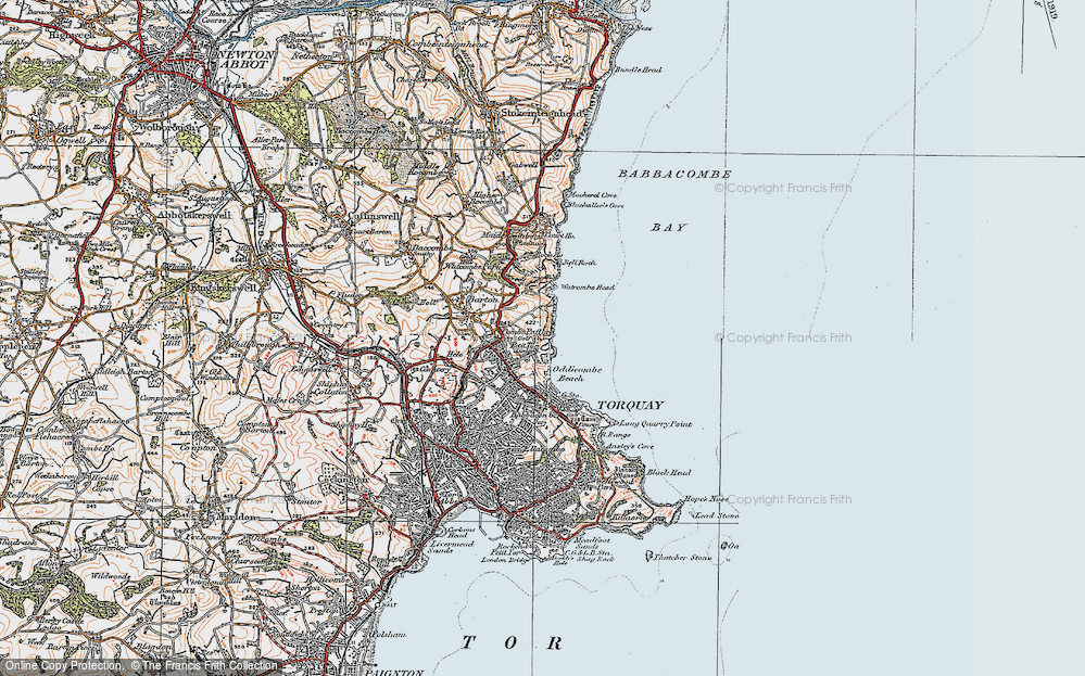 Old Map of St Marychurch, 1919 in 1919