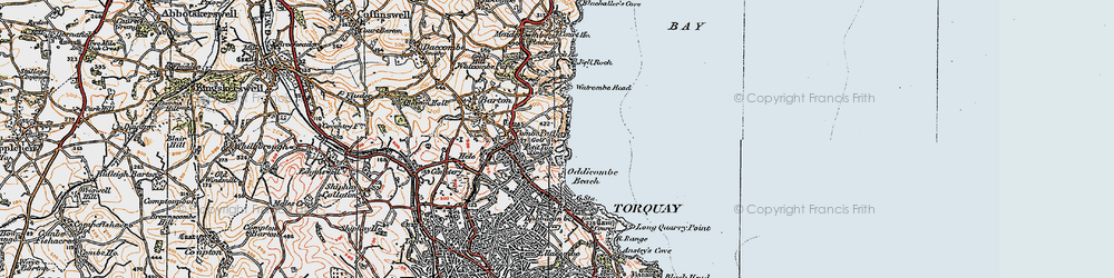 Old map of St Marychurch in 1919