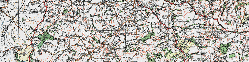 Old map of Wilden in 1920