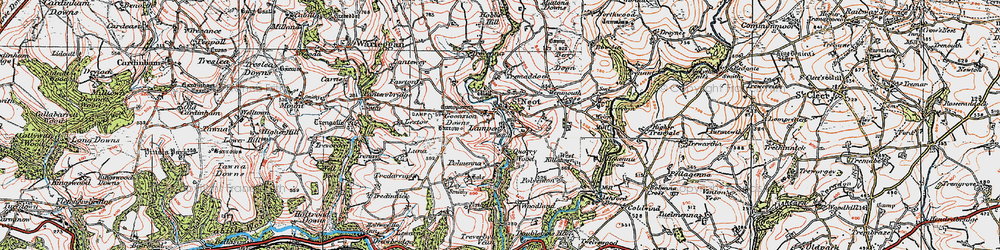 Old map of St Neot in 1919