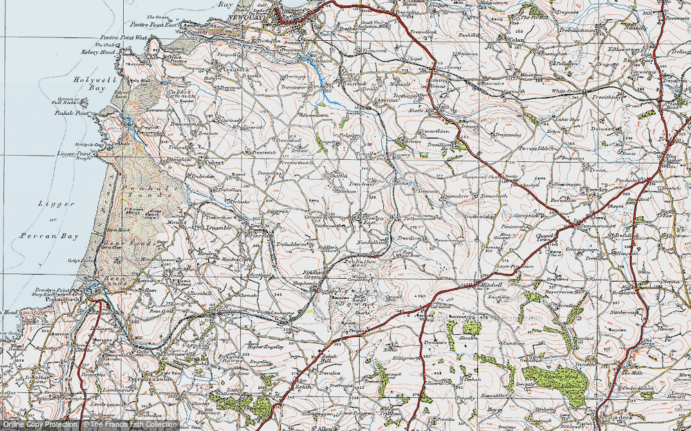 Old Map of Historic Map covering Lappa Valley Steam Rly in 1919