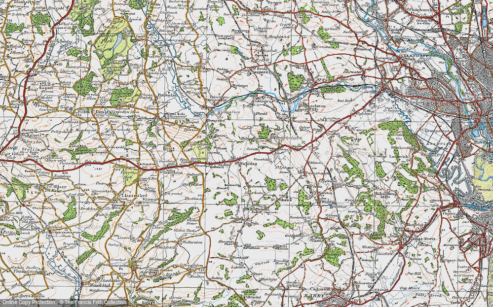 Old Map of St Nicholas, 1919 in 1919
