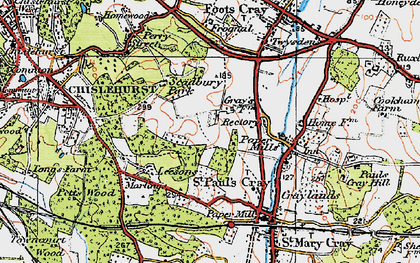 Old map of St Paul's Cray in 1920