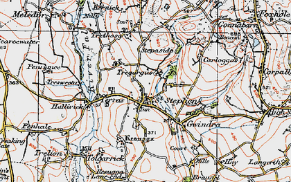 Old map of St Stephen in 1919