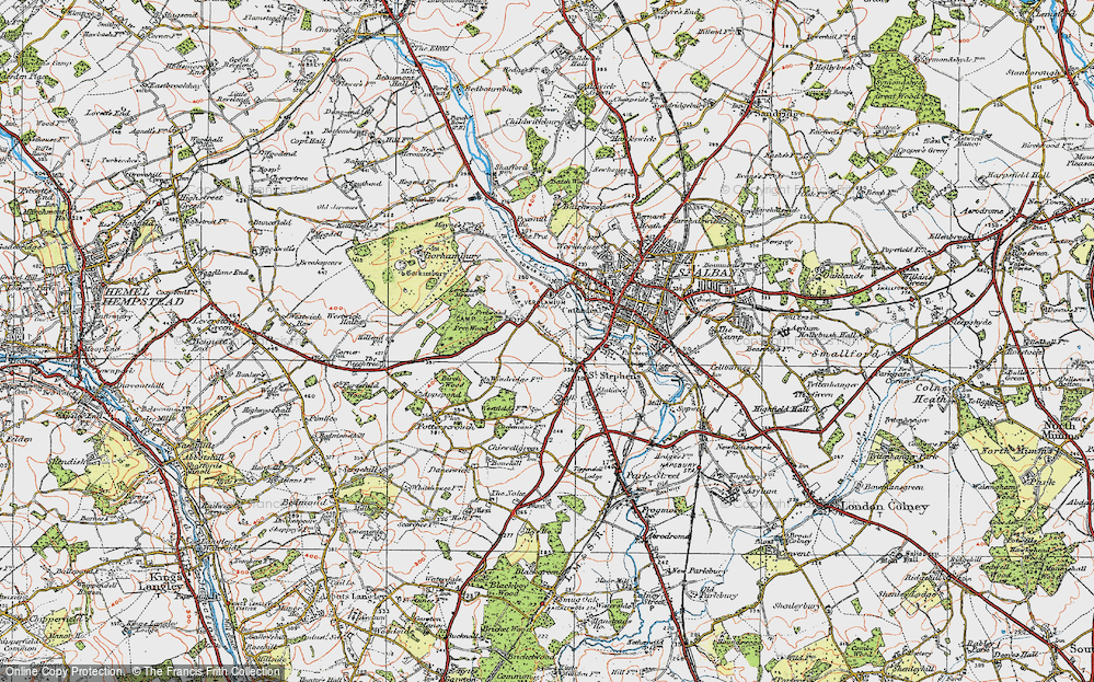 Old Map of Historic Map covering Abbey Sta in 1920