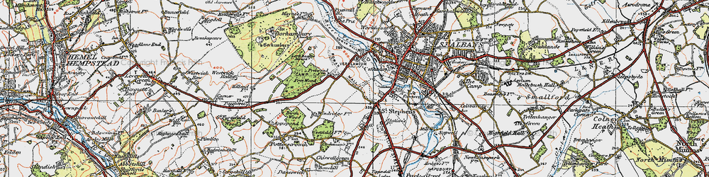 Old map of Abbey Sta in 1920