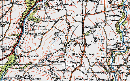 Old map of Lanterrick in 1919