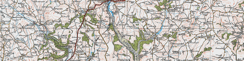 Old map of Lantyan Wood in 1919