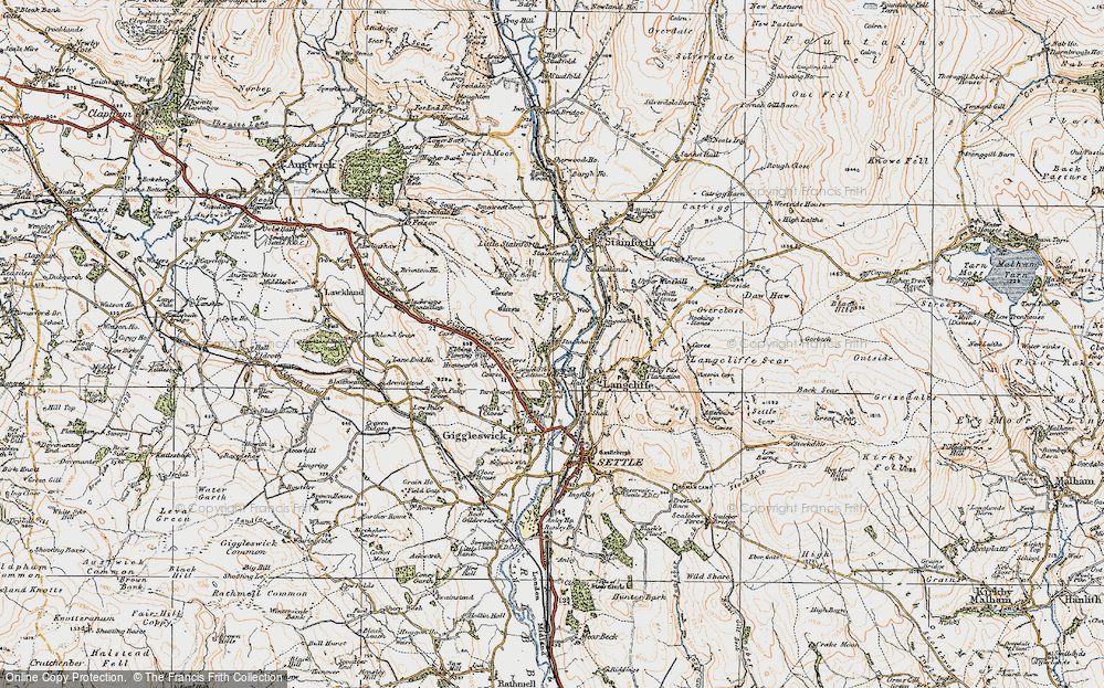 Old Map of Stackhouse, 1924 in 1924