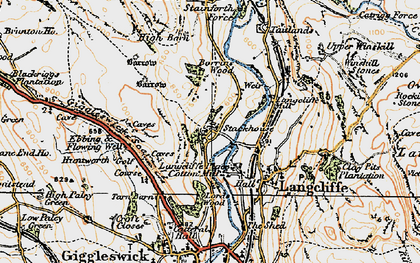 Old map of Stackhouse in 1924