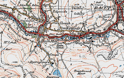 Old map of Stacksteads in 1924