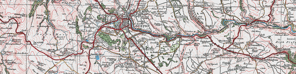Old map of Ashwood Dale in 1923