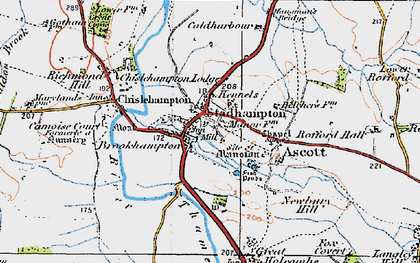 Old map of Stadhampton in 1919