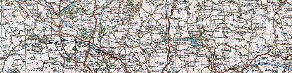 Old map of Thursfield Lodge in 1923