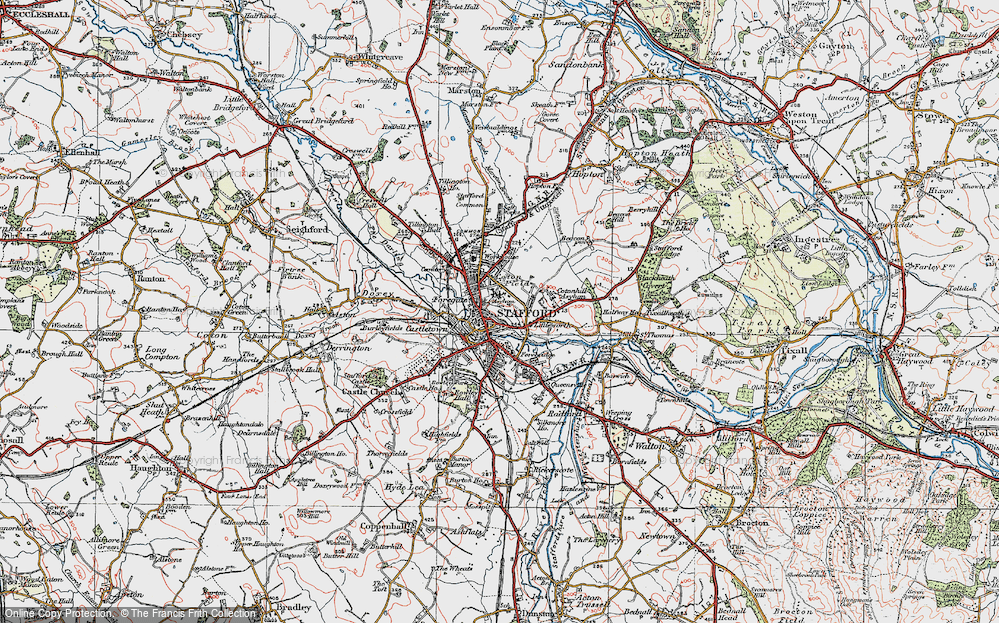 Old Map of Stafford, 1921 in 1921