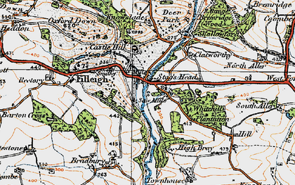 Old map of Woodhouse in 1919