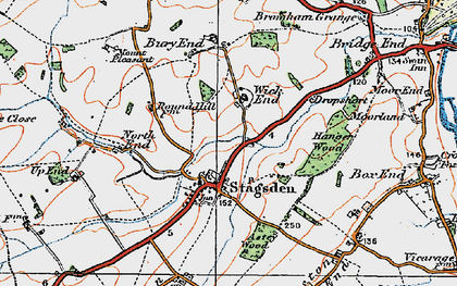 Old map of Astey Wood in 1919