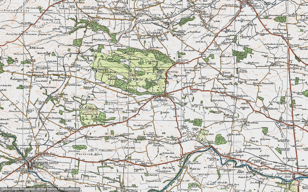 Old Map of Historic Map covering Alwent in 1925