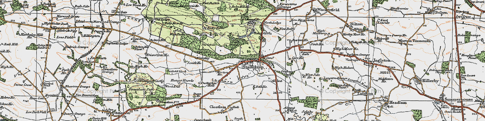 Old map of West Side Ho in 1925