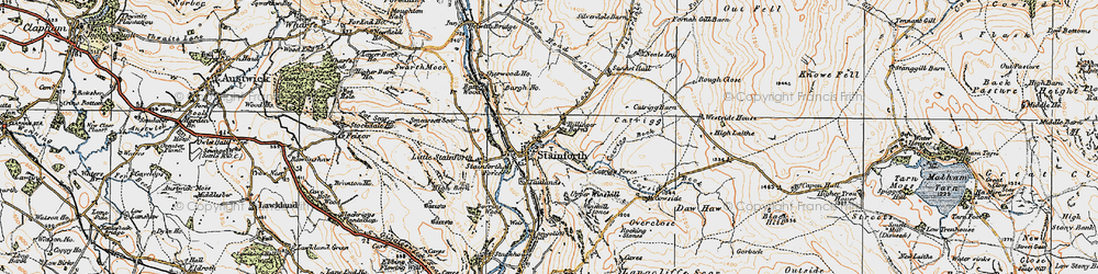 Old map of Stainforth in 1924