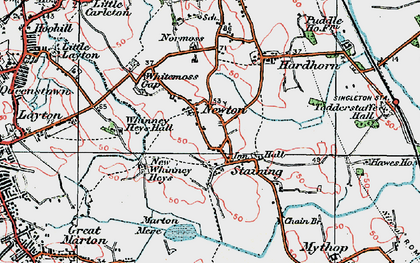 Old map of Staining in 1924