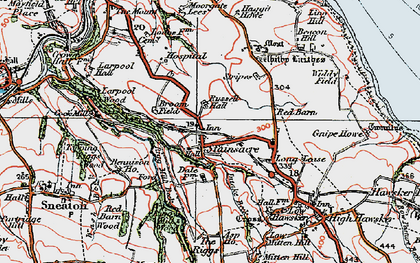 Old map of Asp Ho in 1925