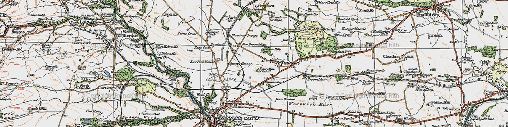 Old map of Westwick Moor in 1925