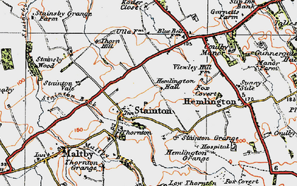 Old map of Stainton in 1925
