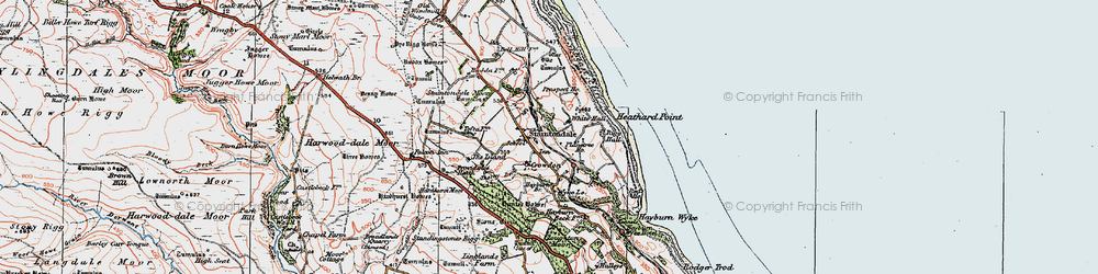 Old map of Staintondale in 1925