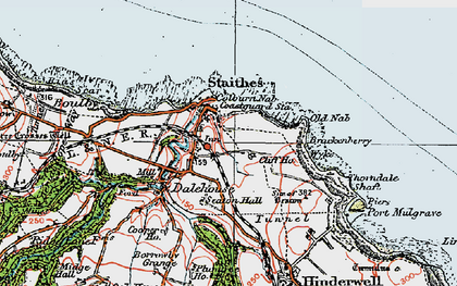 Old map of Dalehouse in 1925