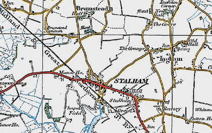 Old map of Stalham in 1922