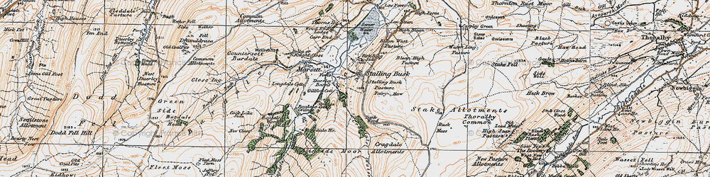 Old map of West Side in 1925