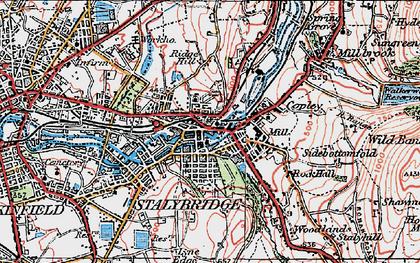 Old map of Stalybridge in 1924